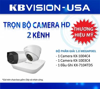 Trọn bộ 2 camera KbVision 1.0 MP