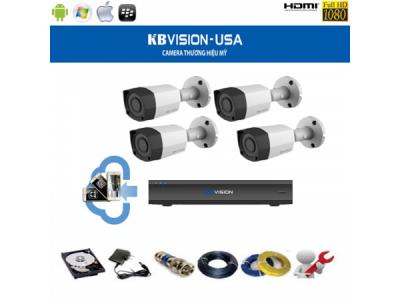 Trọn bộ camera KbVision 1.3 MP Thân Lớn